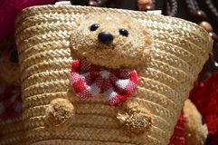 Handmade teddy bear bag Royalty Free Stock Images