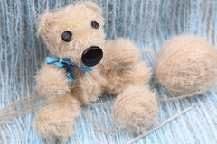 Handmade Teddy Bear Royalty Free Stock Photography