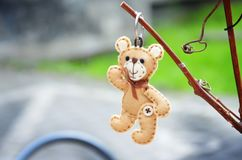 A handmade teddy bear royalty free stock image