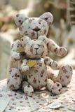 Handmade teddy bears. Cute,selective focus handmade teddy bears stock photography