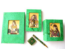 Handmade Telephone Diary Set stock image