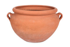 Handmade terracotta, flower pot Stock Images