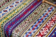 Handmade textile bookmarks sold on Easter fair in Vilnius Stock Image