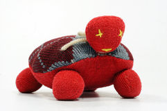 Handmade textile toy turtle Royalty Free Stock Images