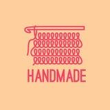 Handmade thin line logo design Royalty Free Stock Images