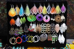 Handmade Tibetan Jewelries stock photography
