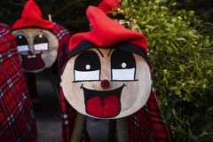 Handmade tio de nadal, typical of catalonia, spain stock images