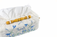 Handmade tissue paper box Stock Photos