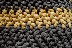 Handmade torba, siwieje i żółte nici ilustracja wektor
