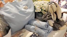 Handmade torby Pakować obraz stock