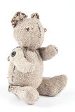 Handmade toy, bear on a white background Royalty Free Stock Photos