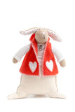 Handmade toy bunny Stock Photos