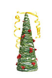 Handmade toy of Christmas tree Royalty Free Stock Photos