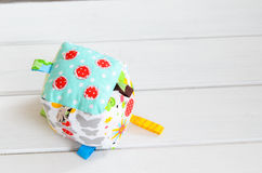 Handmade toy dice pillow with copy space Stock Photo
