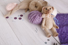 Handmade toy making, artisan workplace Stock Photography
