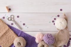 Handmade toy making, artisan workplace Royalty Free Stock Photos