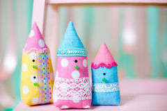 Handmade  toy. Sweet houses shots Royalty Free Stock Photo