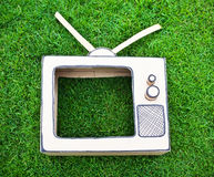 Handmade toy television Royalty Free Stock Images