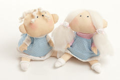 Handmade toys boy and girl Royalty Free Stock Images