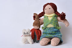 Handmade toys Stock Images
