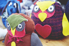 Handmade toys of the Christmas market Royalty Free Stock Photos