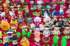Handmade toys with clay Royalty Free Stock Photos