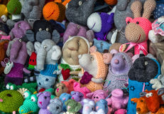 Handmade toys. Sold at the street market Stock Image