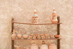 Handmade Traditional Arabic Clay Pot For Sale. Royalty Free Stock Image