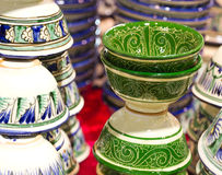 Handmade traditional ceramics Stock Photos