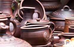 Handmade traditional ceramics Stock Photography