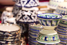 Handmade traditional clay crockery Stock Photo