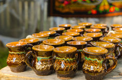 Handmade traditional cups Royalty Free Stock Image