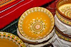 Handmade traditional pots Stock Photos