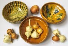 Handmade tradycyjni garnki Obrazy Royalty Free