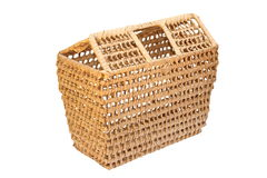 Handmade trellis basket Stock Photos