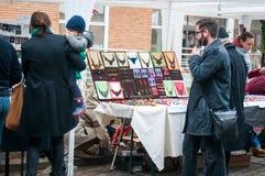 Handmade trinket fair people Royalty Free Stock Image