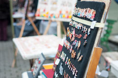 Handmade trinkets panel Stock Photography