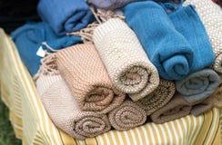 Handmade trouser fabric Stock Photos