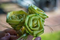 Handmade trzcinowe róże Obraz Stock