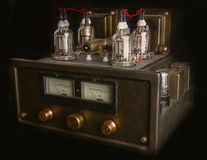 Handmade tube amplifier Stock Photo
