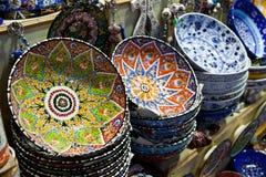 handmade turkish сбывания плит Стоковое Изображение