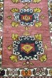 Handmade Turkish Carpet. A beautiful and colored Traditional handmade Turkish Carpet royalty free stock photography
