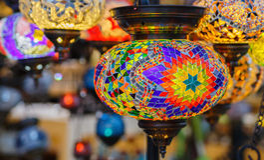 Handmade turkish lamps Stock Photo