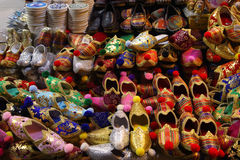 Handmade turkish shoes Royalty Free Stock Images
