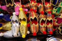 Handmade turkish shoes Royalty Free Stock Photos