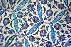 Handmade Turkish tiles Royalty Free Stock Image