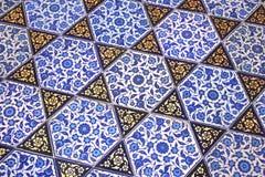 Handmade Turkish tiles Royalty Free Stock Images