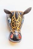 Handmade typical nicaraguan mask hanging on the wall Stock Image