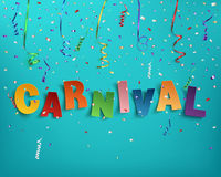 Handmade typographic word carnival. Royalty Free Stock Images