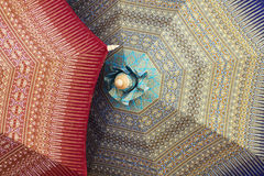 Handmade umbrellas. Handmade umbrella for sell in Thailand Stock Photos